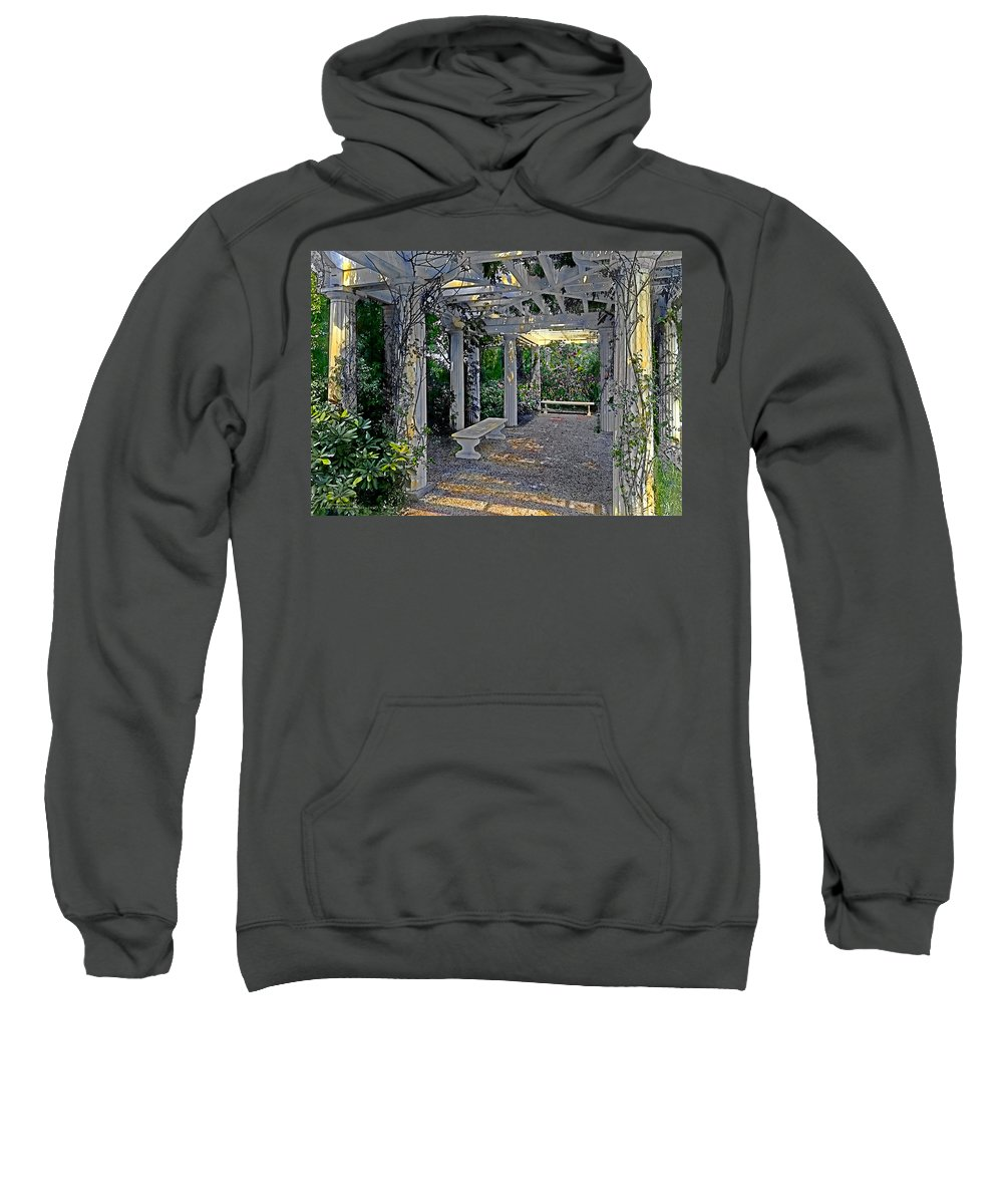 Tranquil Sweatshirt featuring the painting Summer Shade 3 by Terry Reynoldson
