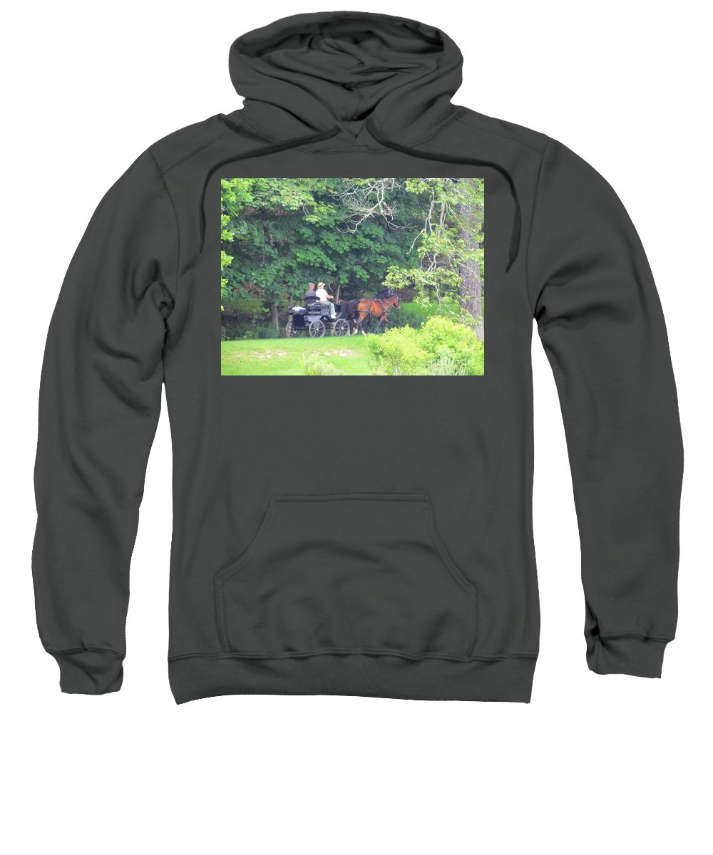 Horses And Carriage Sweatshirt featuring the photograph Summer Stroll by Elizabeth Dow