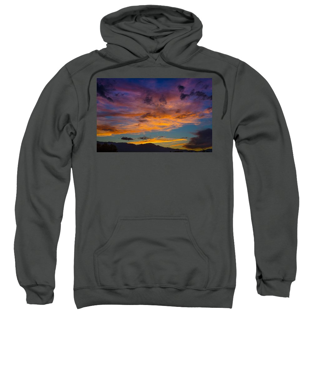 Sunsets Sweatshirt featuring the photograph Summer Sunset Colorado by Ernie Echols