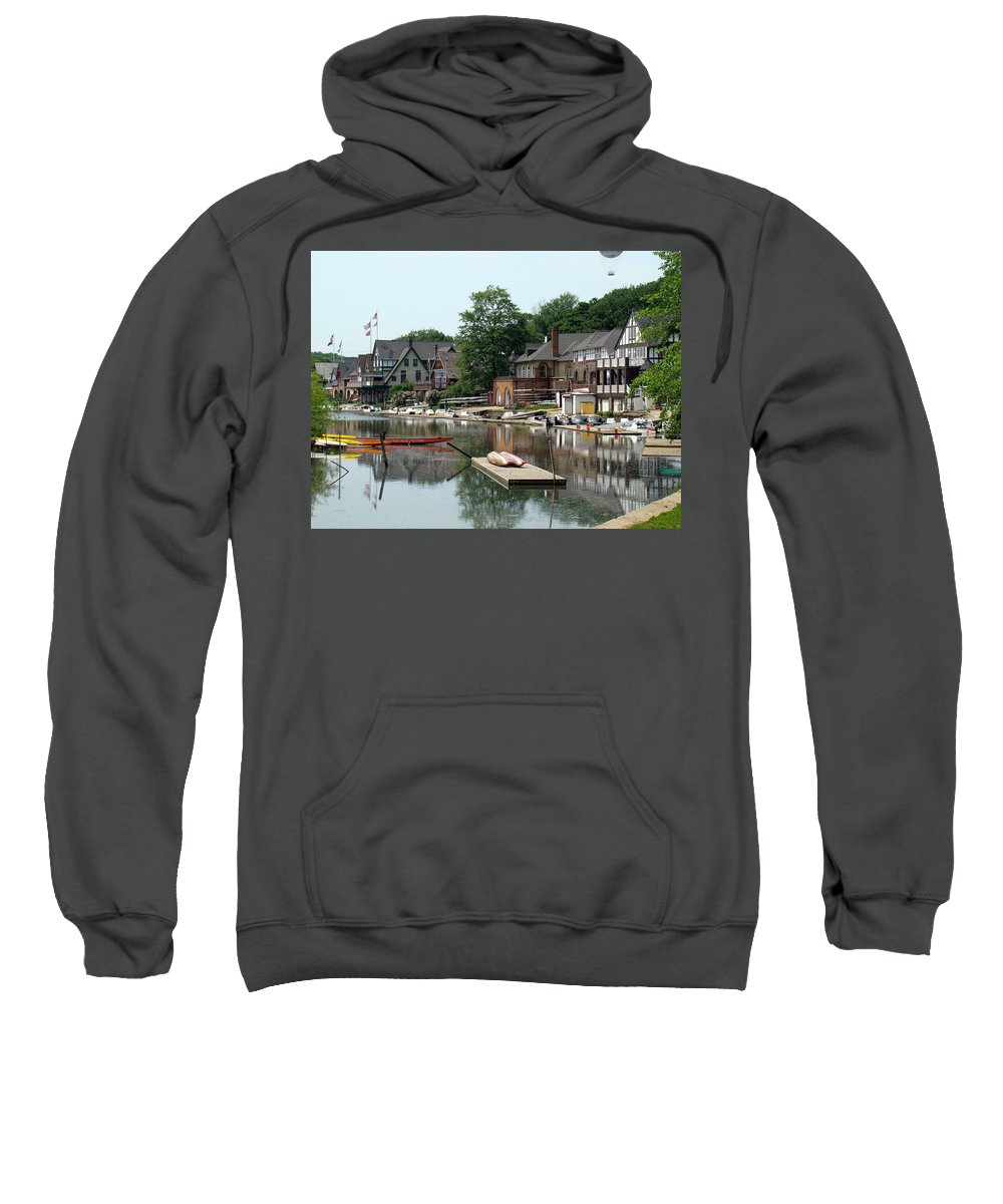 Boathouse Row Sweatshirt featuring the photograph Summertime On Boathouse Row by Alice Gipson