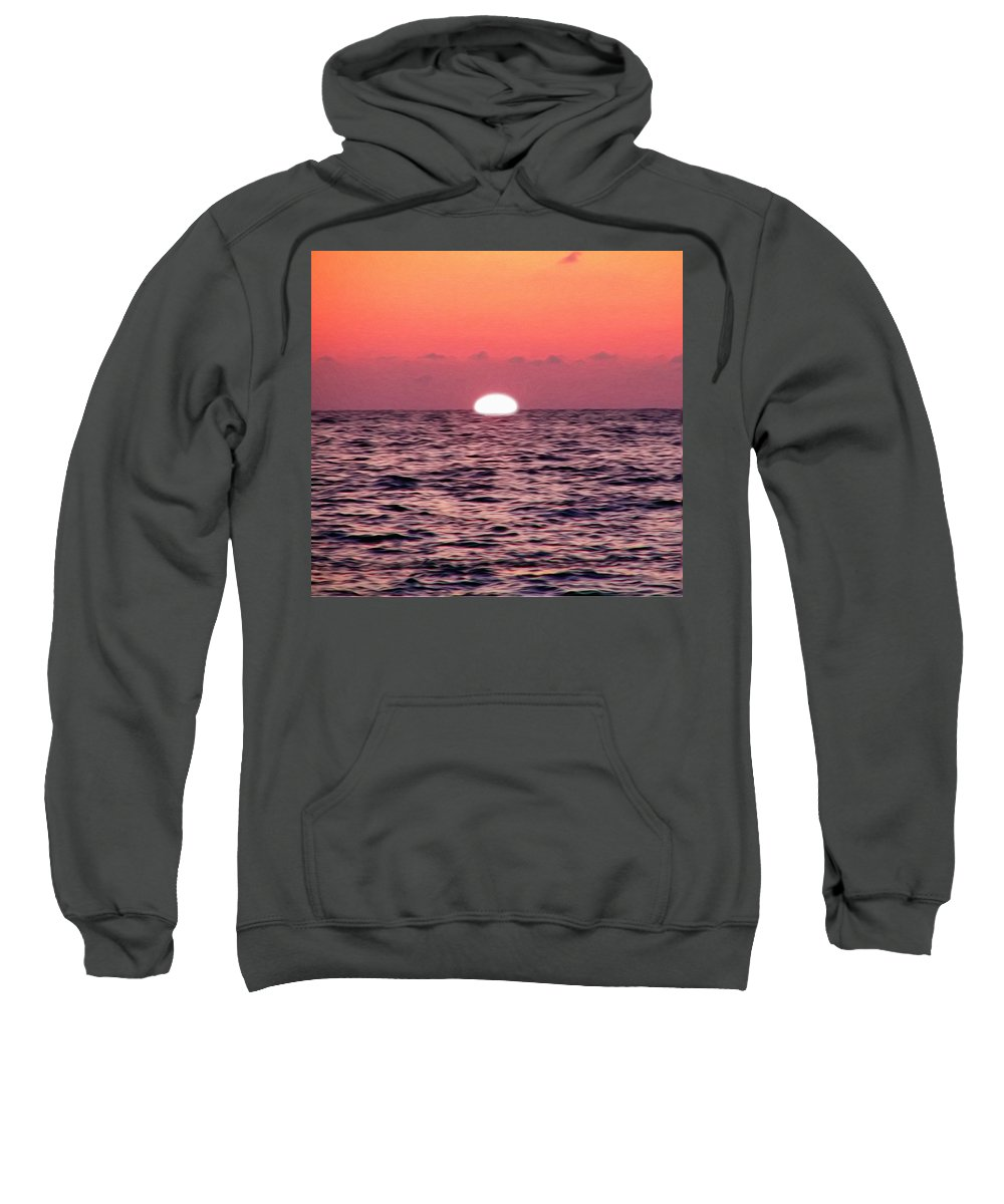 Sun Going Down Sweatshirt featuring the photograph Sun Going Down by Bill Cannon