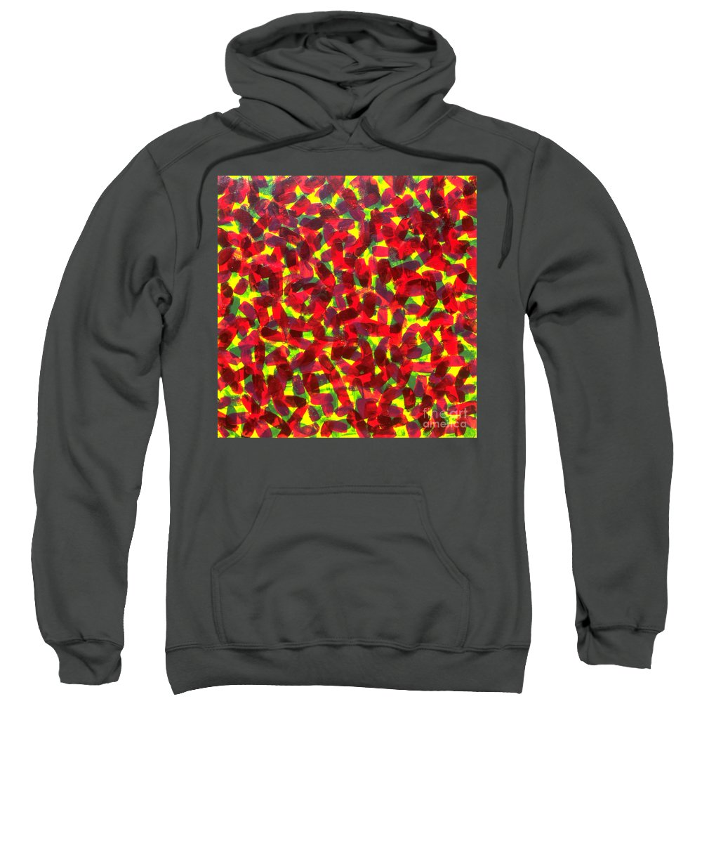 Abstract Sweatshirt featuring the painting Sunlight Through The Trees by Dean Triolo
