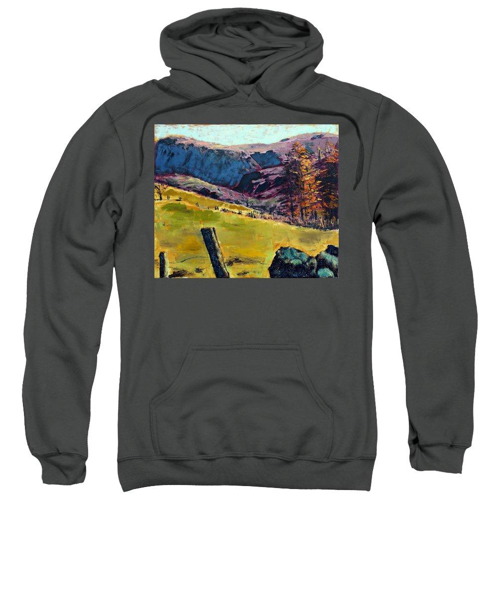 Sunny Day In The Countryside Sweatshirt featuring the painting Sunny Day In The Countryside by Uma Krishnamoorthy