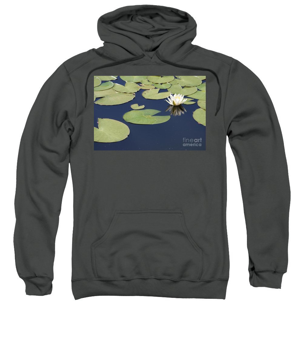 Lily Pond Sweatshirt featuring the photograph Sunny Lily Pond by Carol Groenen