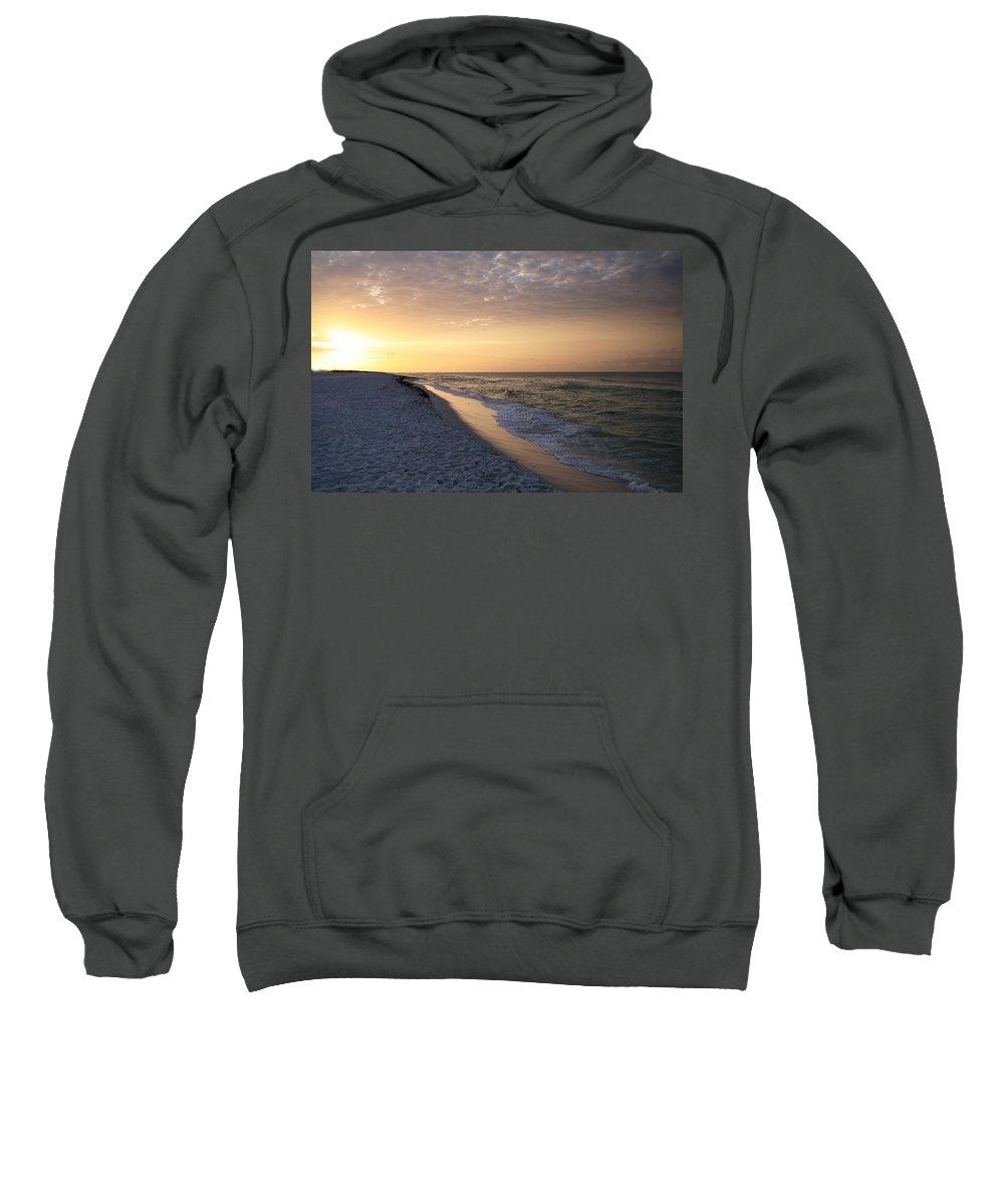 Gulf Sweatshirt featuring the photograph Beach Sunrise by Anthony Dezenzio