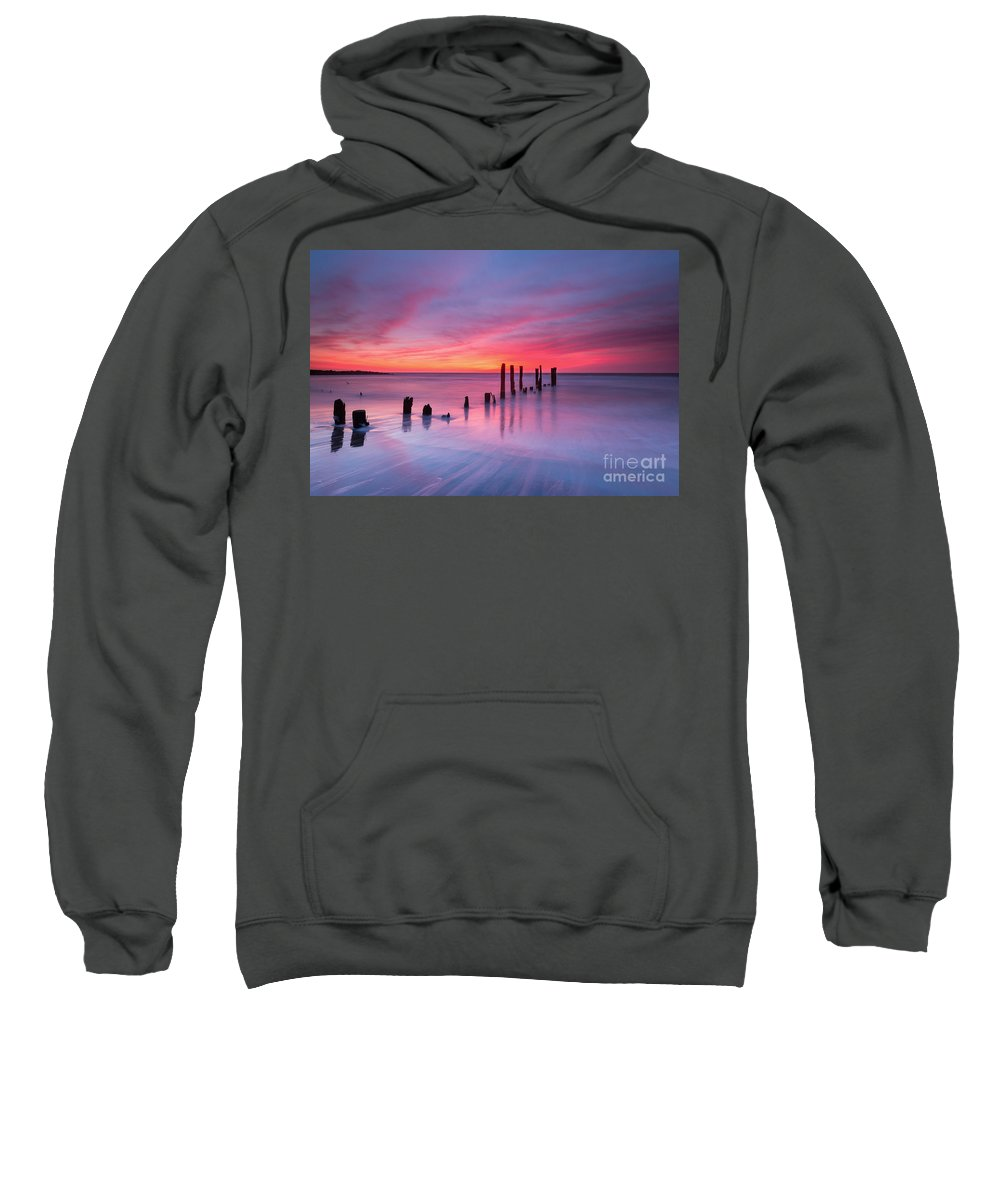 Milky Way Mike Sweatshirt featuring the photograph Sunrise At Deal Nj by Michael Ver Sprill