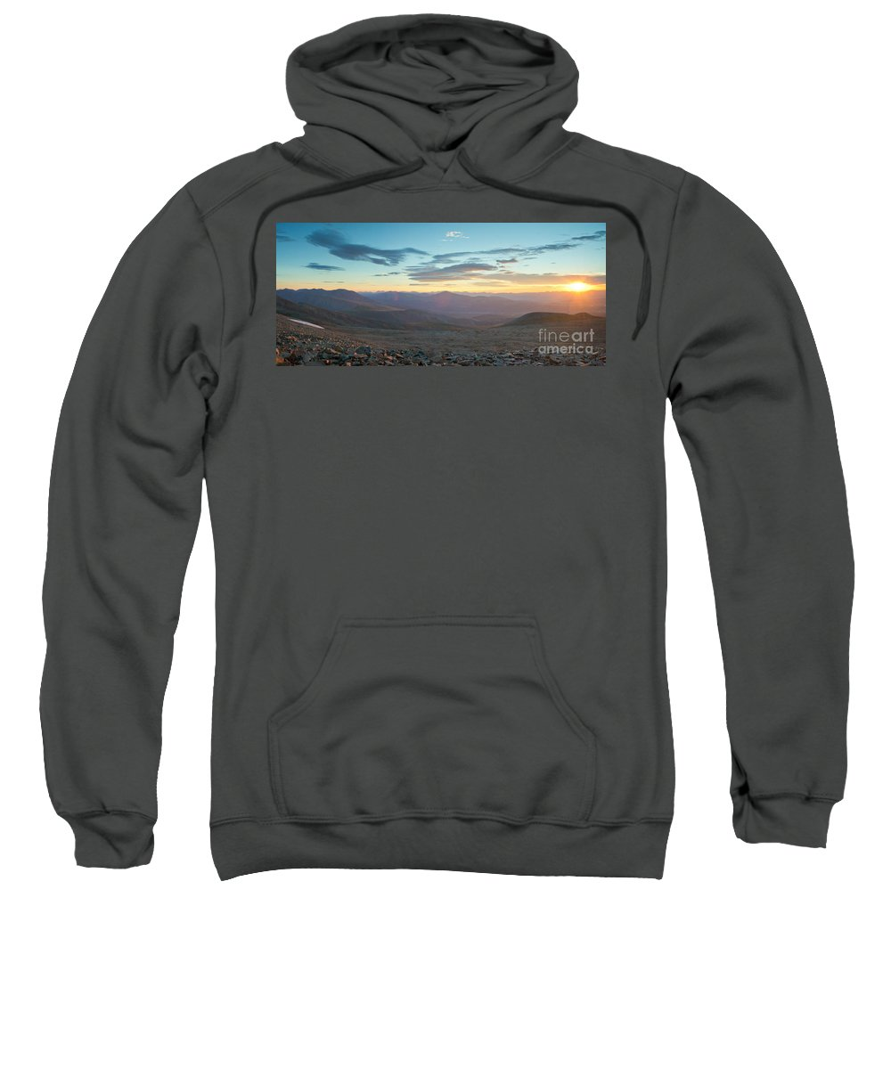 Colorado Sweatshirt featuring the photograph Sunrise From Mt Sherman Panorama by Benjamin Reed