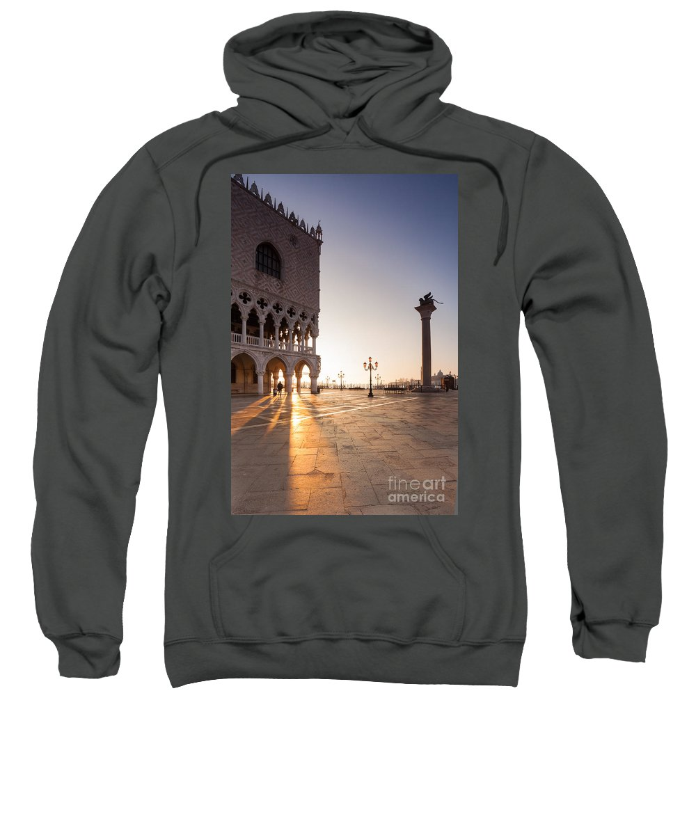 Venice Sweatshirt featuring the photograph Sunrise In St Marks Square Venice Italy by Matteo Colombo