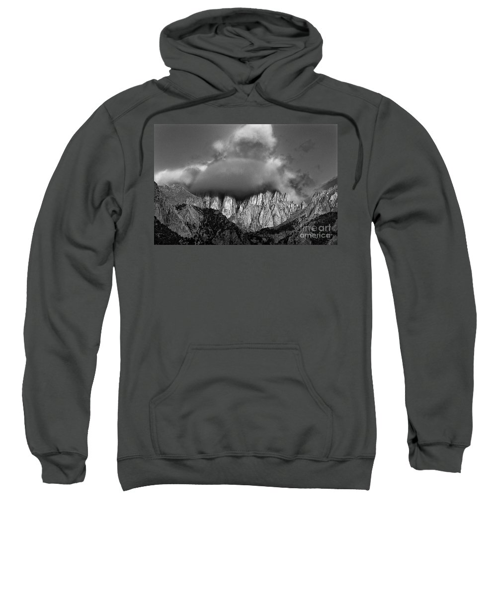 North America Sweatshirt featuring the photograph Sunrise On Mount Whitney Eastern Sierras California by Dave Welling