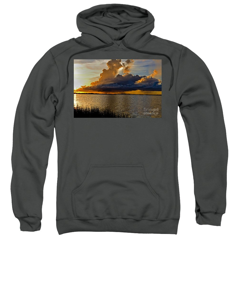 Sunrise Sweatshirt featuring the photograph Sunrise Rain by Scott Pellegrin