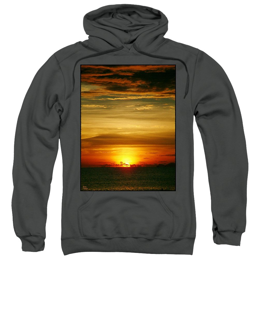 Sunset Sweatshirt featuring the painting Sunset Beauty by Bruce Nutting
