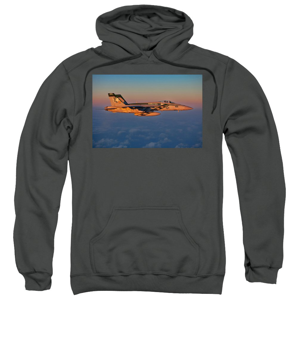Usn Sweatshirt featuring the photograph Sunset Cruise by Ricky Barnard