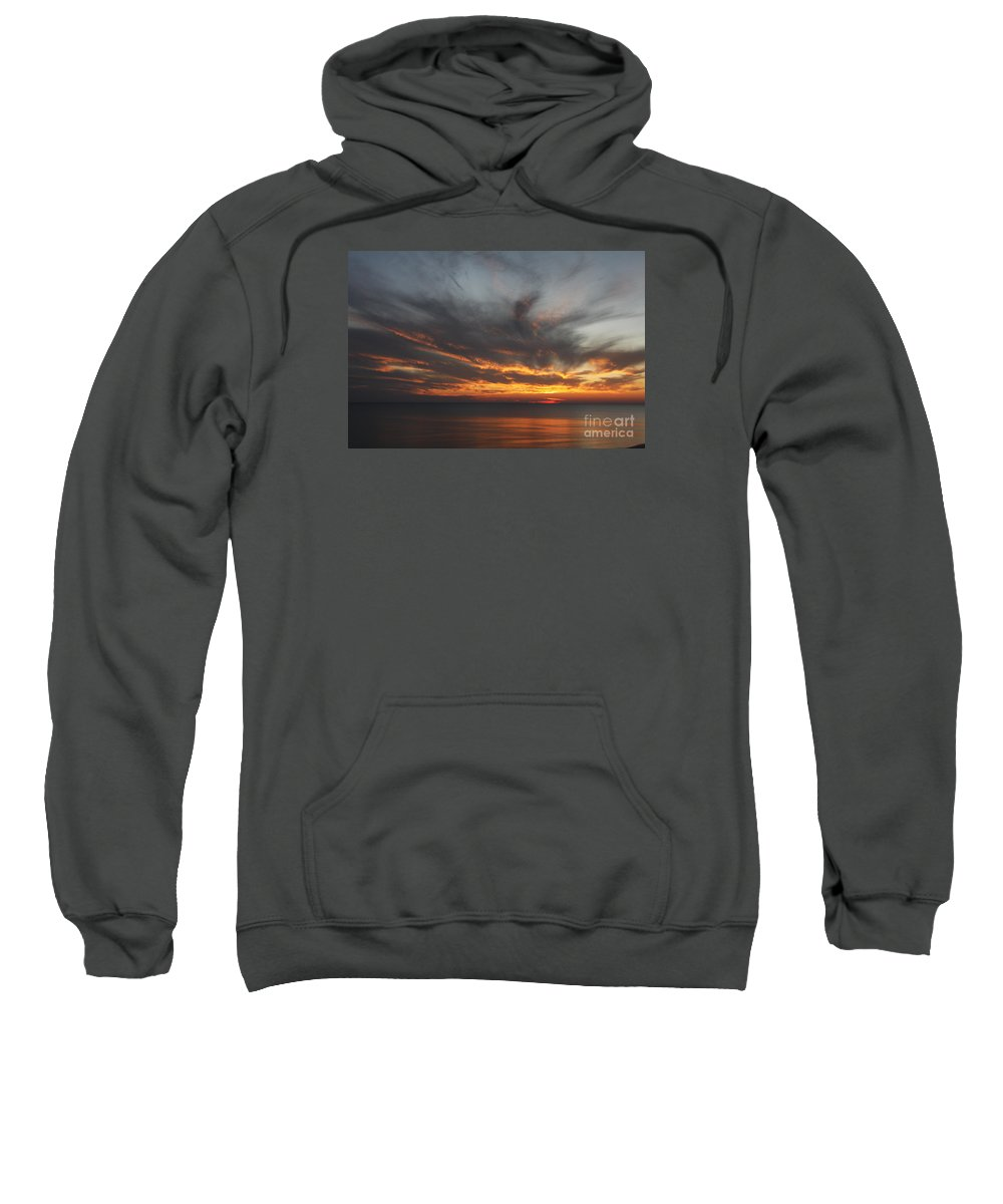 Sunset Sweatshirt featuring the photograph Sunset Fiery Sky by Christiane Schulze Art And Photography