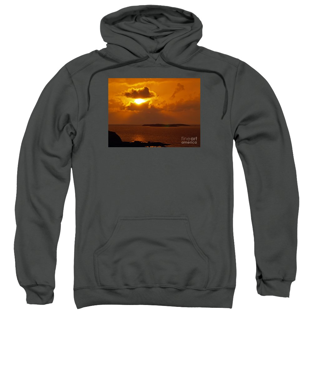 Fine Art Photography Sweatshirt featuring the photograph Sunset From The Dolphin Watch Cottage by Patricia Griffin Brett