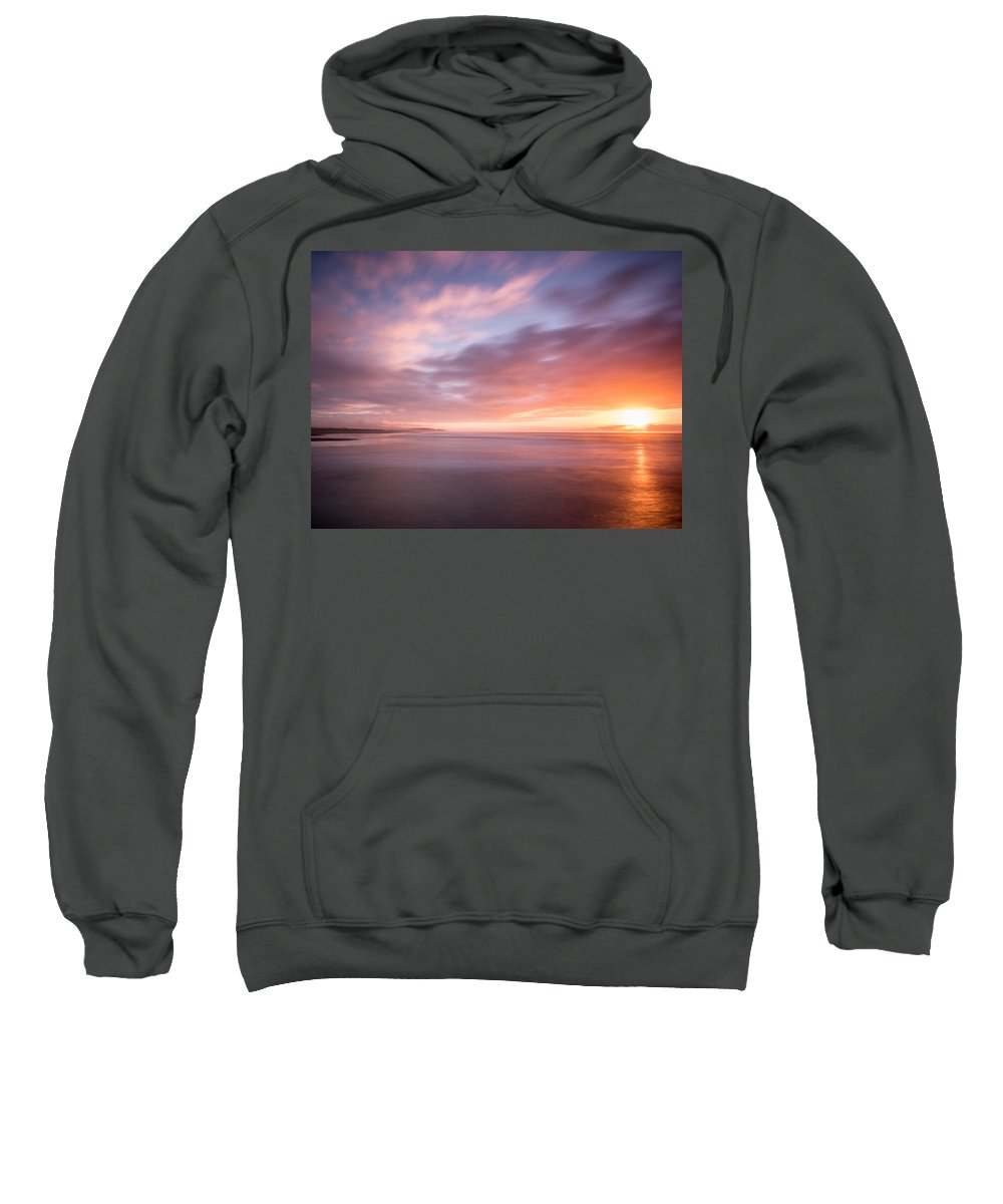 Sunset Sweatshirt featuring the photograph Sunset From The South Jetty by Greg Nyquist