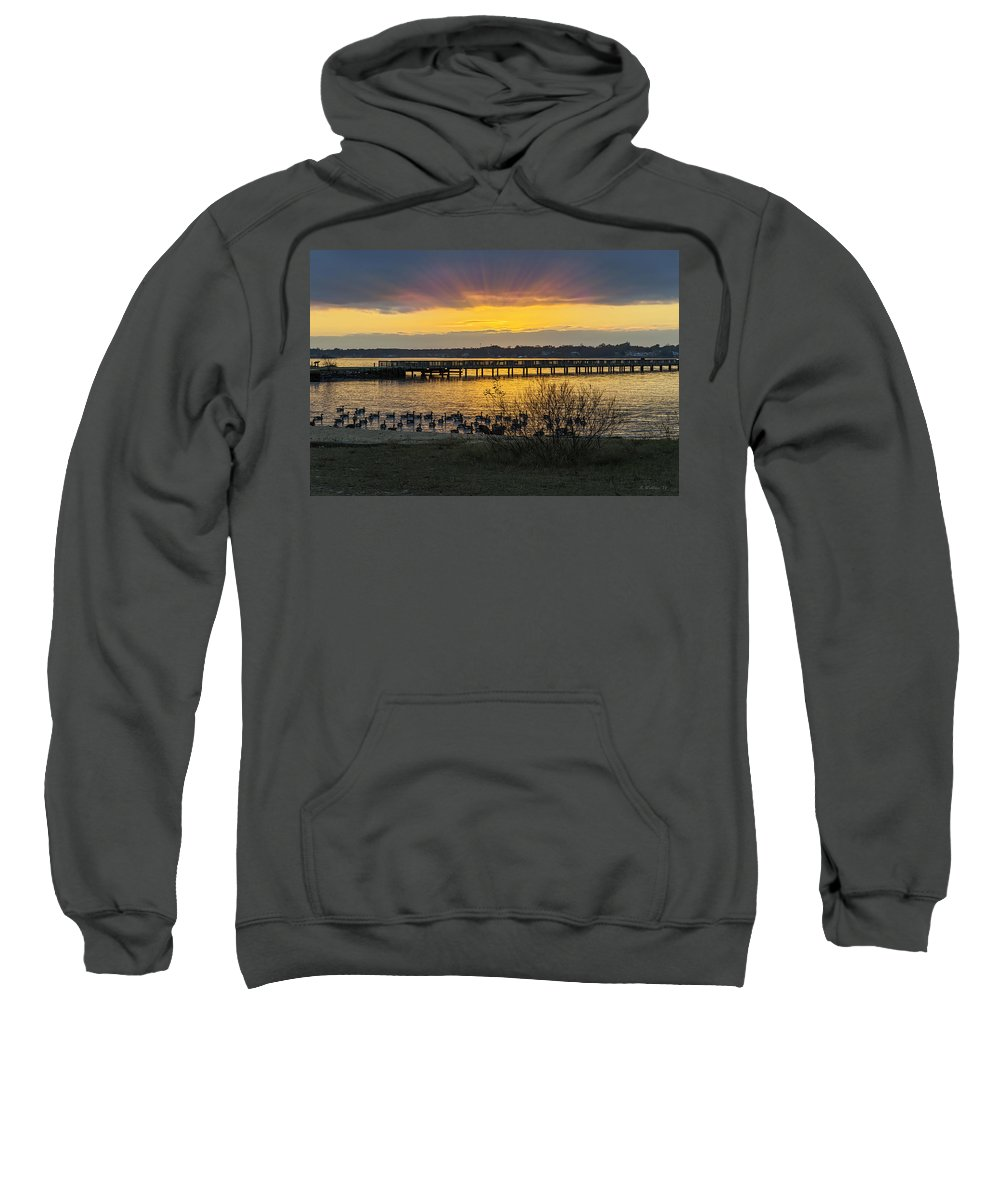 2d Sweatshirt featuring the photograph Sunset Glow by Brian Wallace