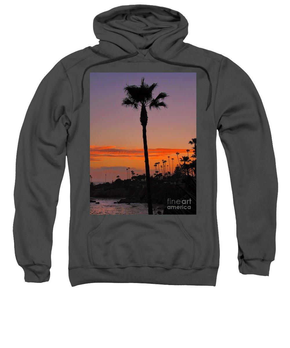 Sunset Sweatshirt featuring the photograph Sunset In Laguna Beach by Mariola Bitner