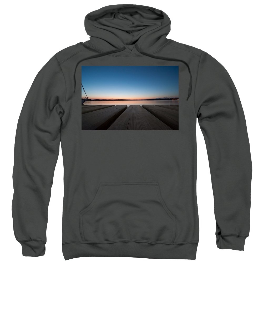 Adriatic Sweatshirt featuring the photograph Sunset In Pula by Amel Dizdarevic