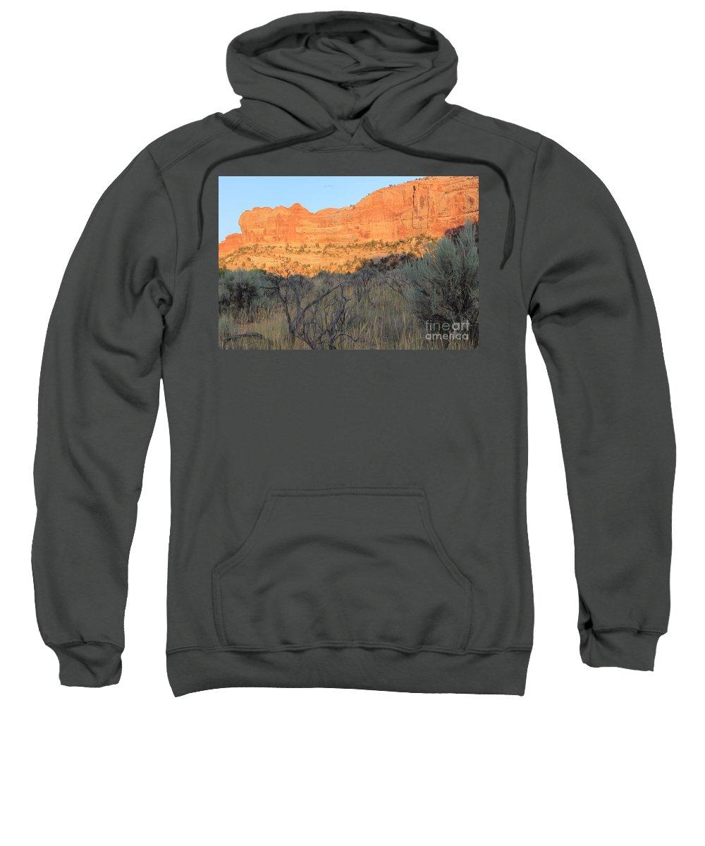 Utah Sweatshirt featuring the photograph Sunset In The Desert Canyon 2 by Tonya Hance