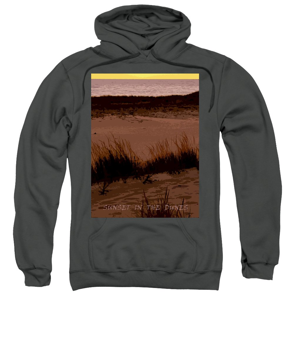 Travel Sweatshirt featuring the photograph Sunset In The Dunes by Michelle Calkins