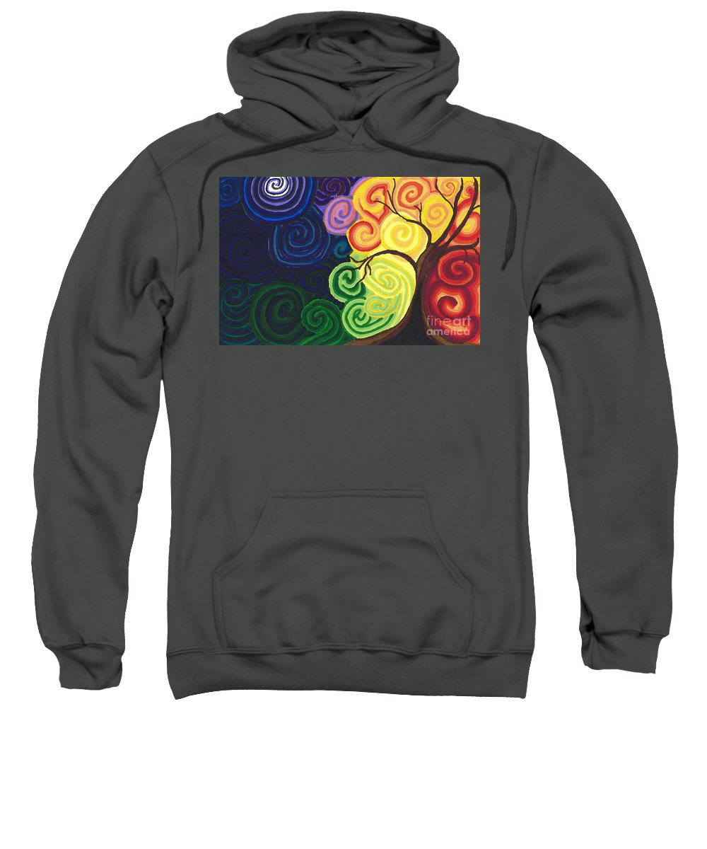 Sun Sweatshirt featuring the drawing Sunset Moonrise by J M Lister