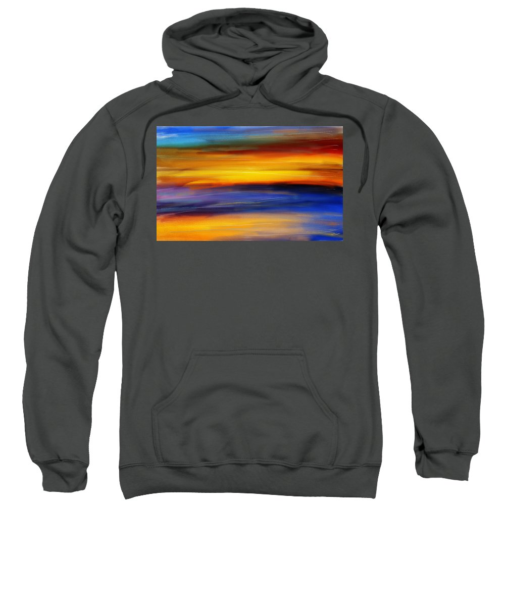 Seascapes Abstract Sweatshirt featuring the photograph Sunset Of Light by Lourry Legarde