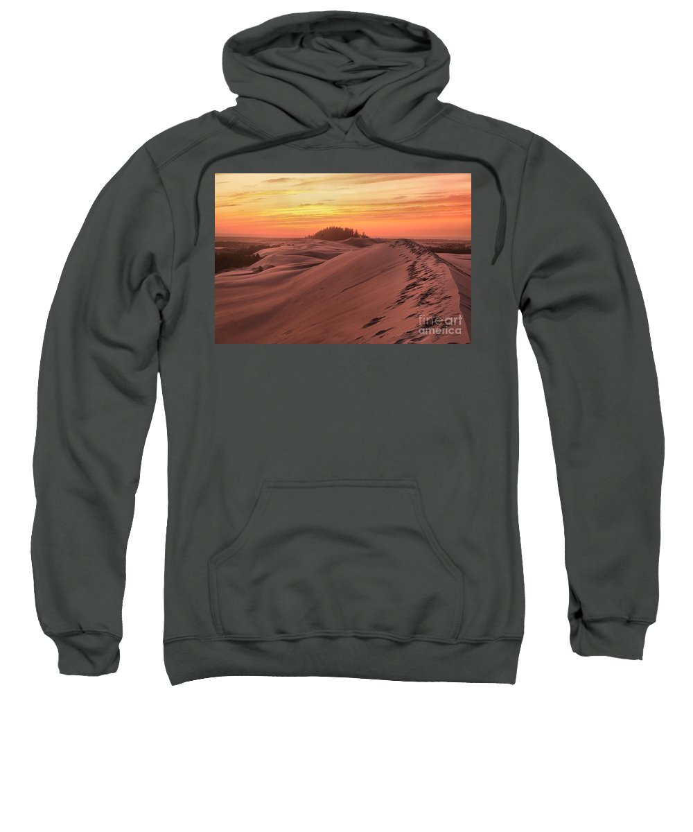 Oregon Dunes Sweatshirt featuring the photograph Sunset On The Ridge by Adam Jewell