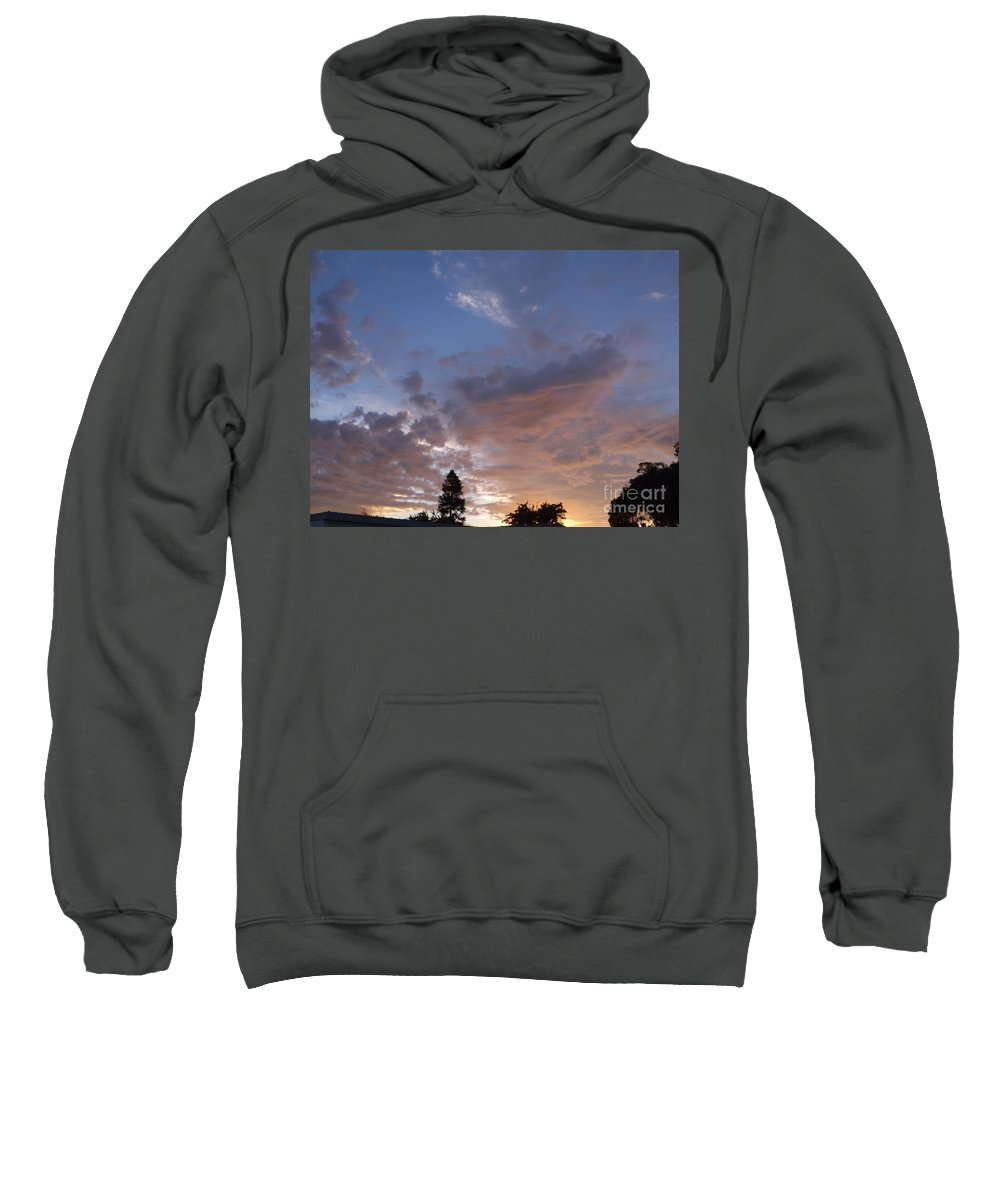 Sun Sweatshirt featuring the photograph Sunset Through The Trees by Jussta Jussta