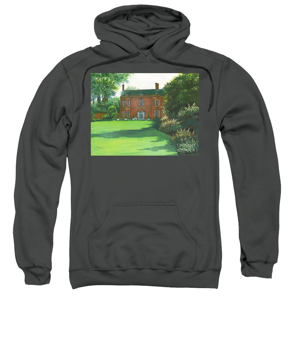 Landscape Sweatshirt featuring the painting Sunshine Day by Margaryta Yermolayeva