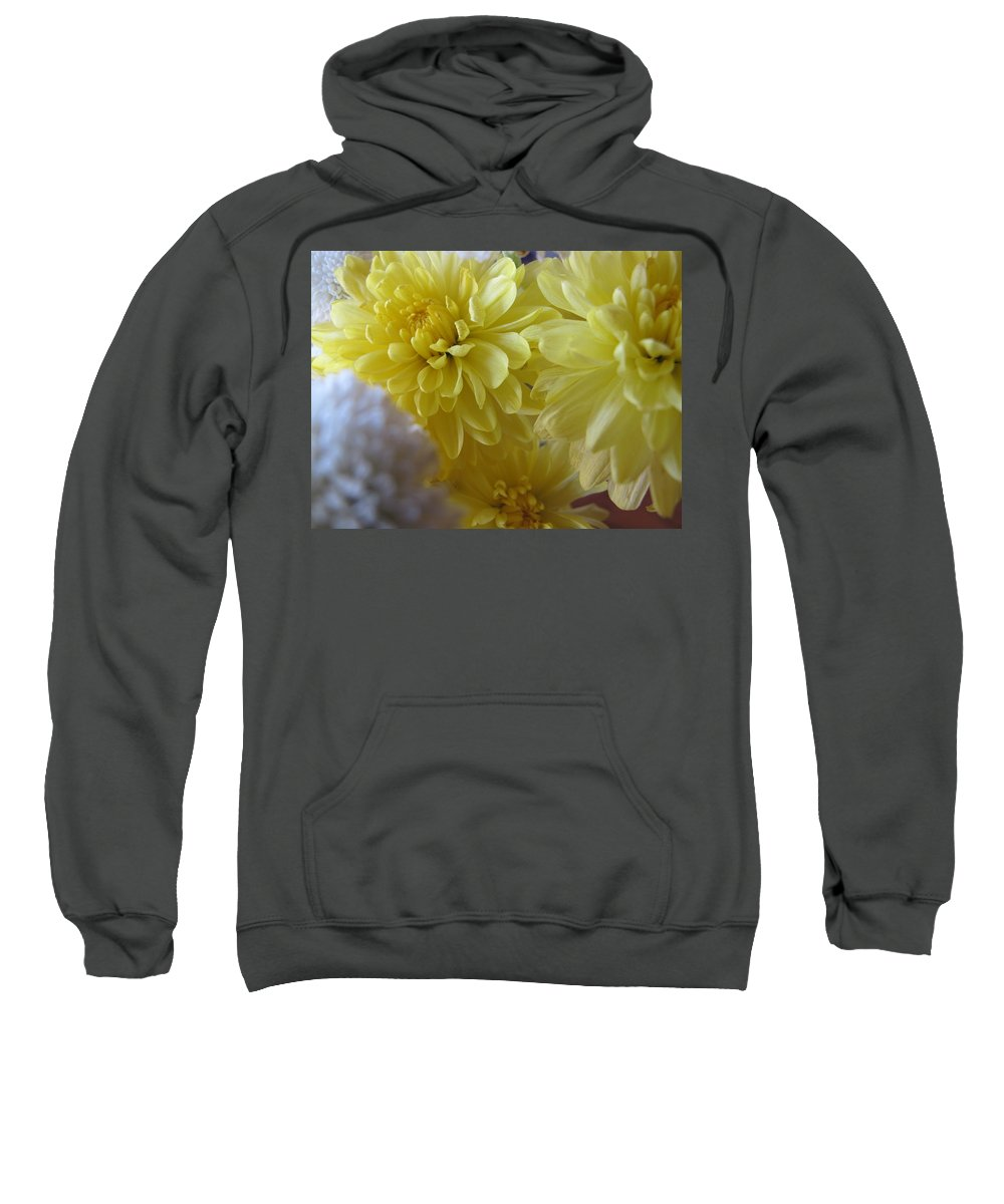 Yellow Flower Sweatshirt featuring the photograph flower - Sunshine in Petals by Kip Krause