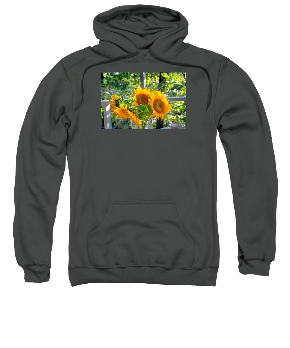 Floral Sweatshirt featuring the photograph Sunshine Morning by Nava Thompson