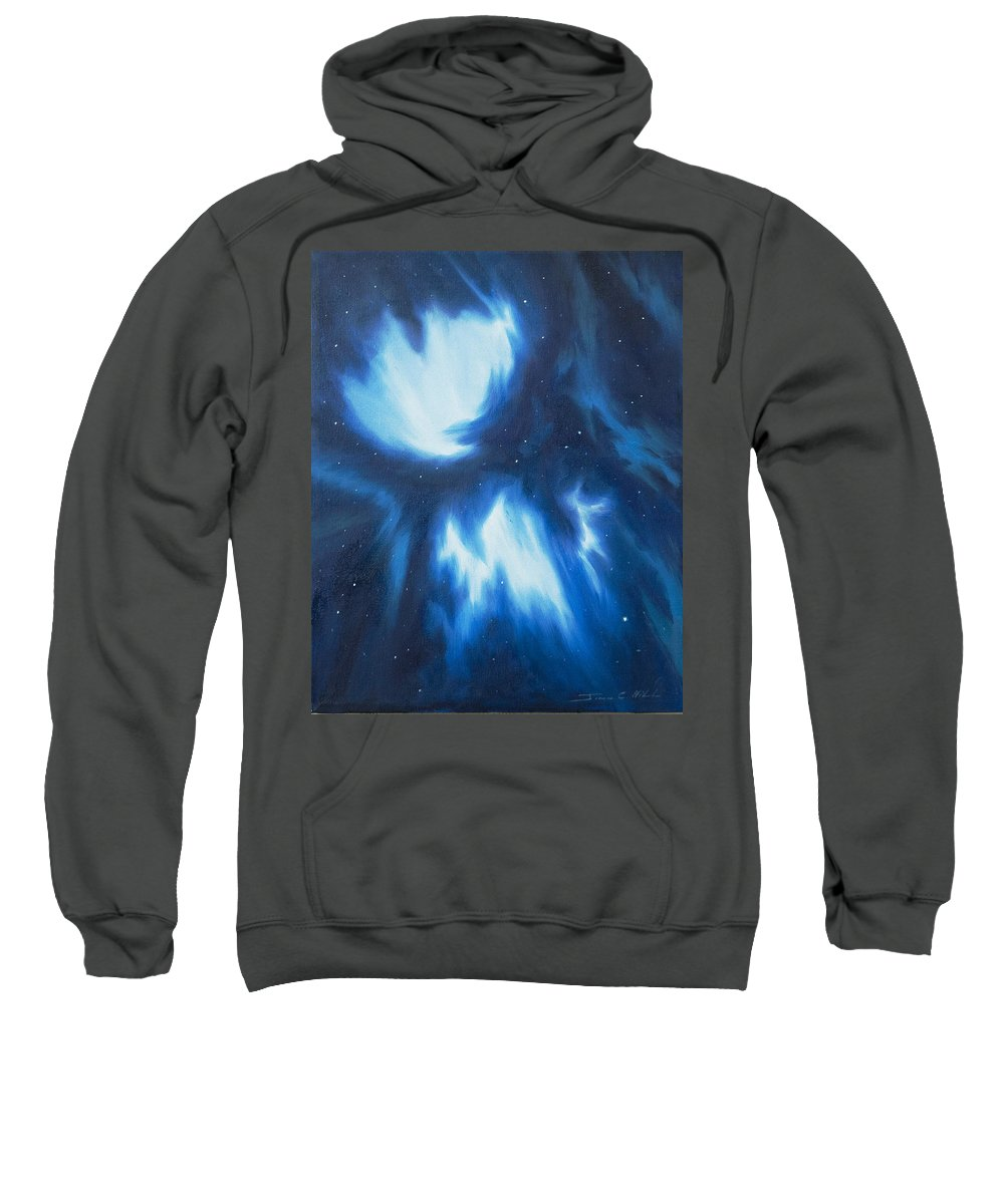 James Christopher Hill Sweatshirt featuring the painting Supernova Explosion by James Christopher Hill