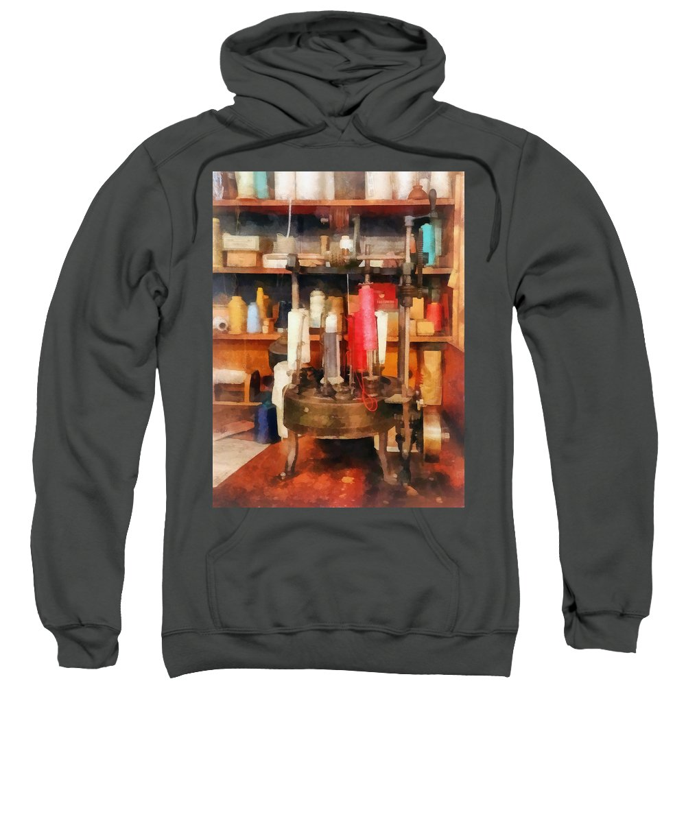 Sew Sweatshirt featuring the photograph Supplies In Tailor Shop by Susan Savad