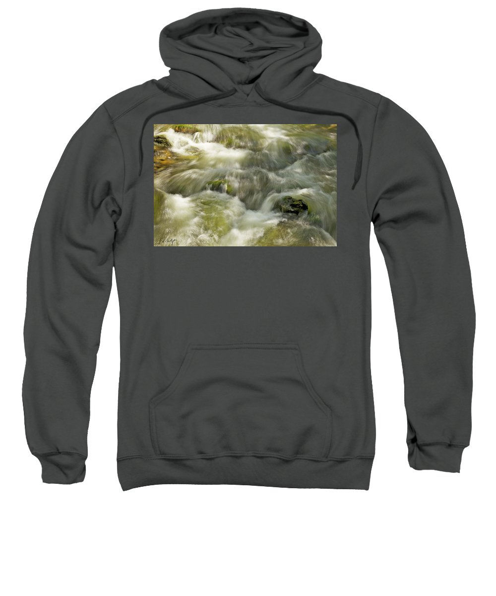 Belfountain Sweatshirt featuring the photograph Surging Water by Phill Doherty