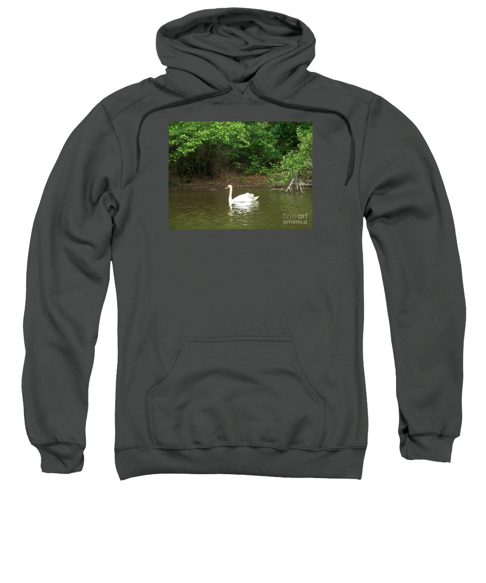 Swan Sweatshirt featuring the photograph Swan Lake by Kevin Croitz