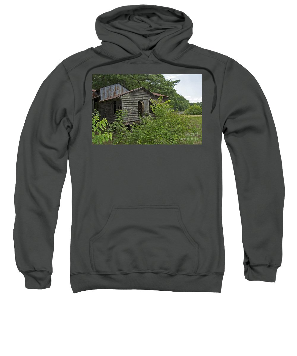 Scenic Tours Sweatshirt featuring the photograph Swansea Historic Mill by Skip Willits