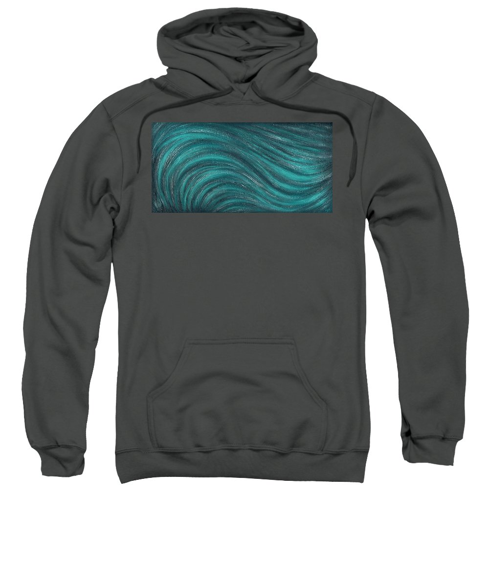 Abstract Sweatshirt featuring the painting Sway by Laura Teti