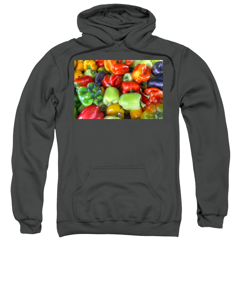 Sweet Sweatshirt featuring the photograph Sweet Bell Peppers Assorted Colors by David Gn
