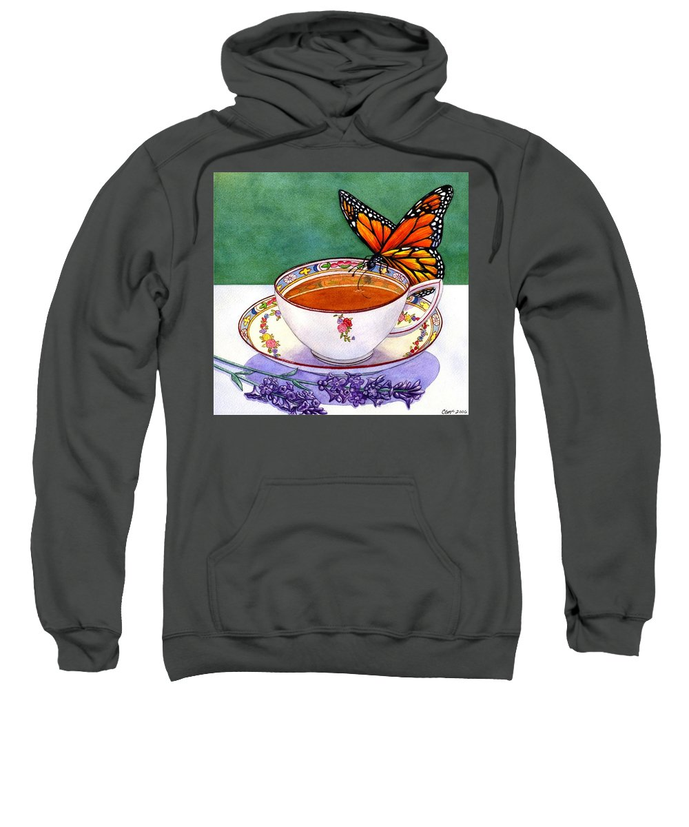 Butterfly Sweatshirt featuring the painting Sweet by Catherine G McElroy