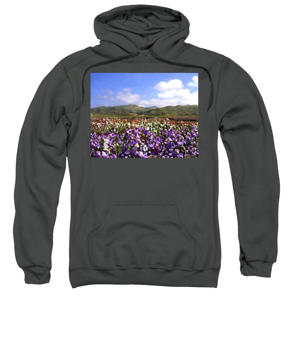 Flowers Sweatshirt featuring the photograph Sweet Peas Galore by Kurt Van Wagner