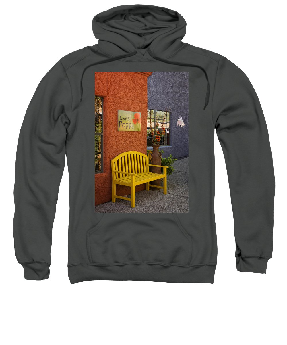 Sweet Sweatshirt featuring the photograph Sweet Poppy Shops Tubac Arizona Dsc08406 by Greg Kluempers