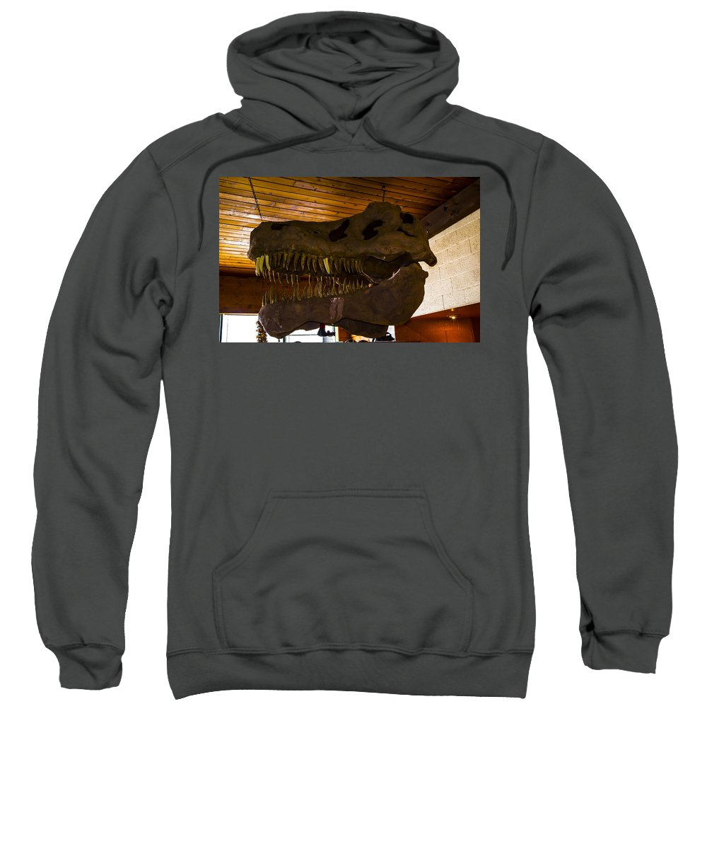 Grand Caverns Sweatshirt featuring the photograph T Rex Head by Angus Hooper Iii