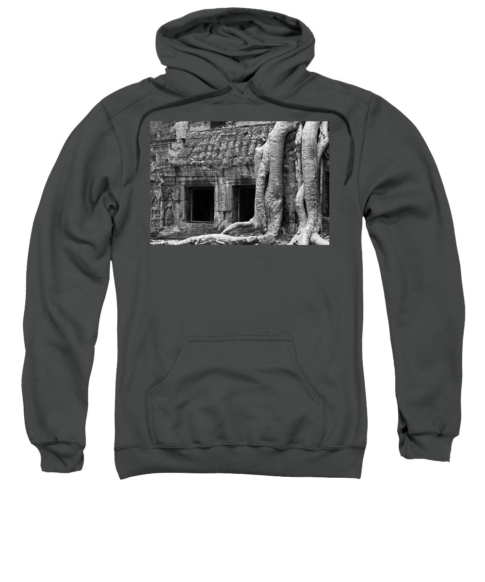 Cambodia Sweatshirt featuring the photograph Ta Prohm Roots And Stone 02 by Rick Piper Photography