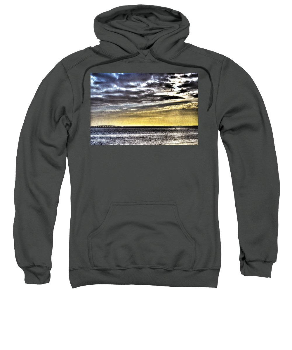 Tagus Sweatshirt featuring the photograph Big Clouds Over Tagus River by Alexandre Martins