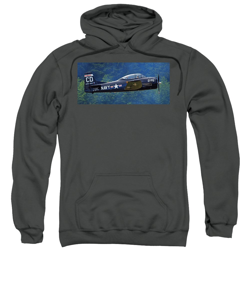Plane Sweatshirt featuring the photograph Taking Off by Randy Hall
