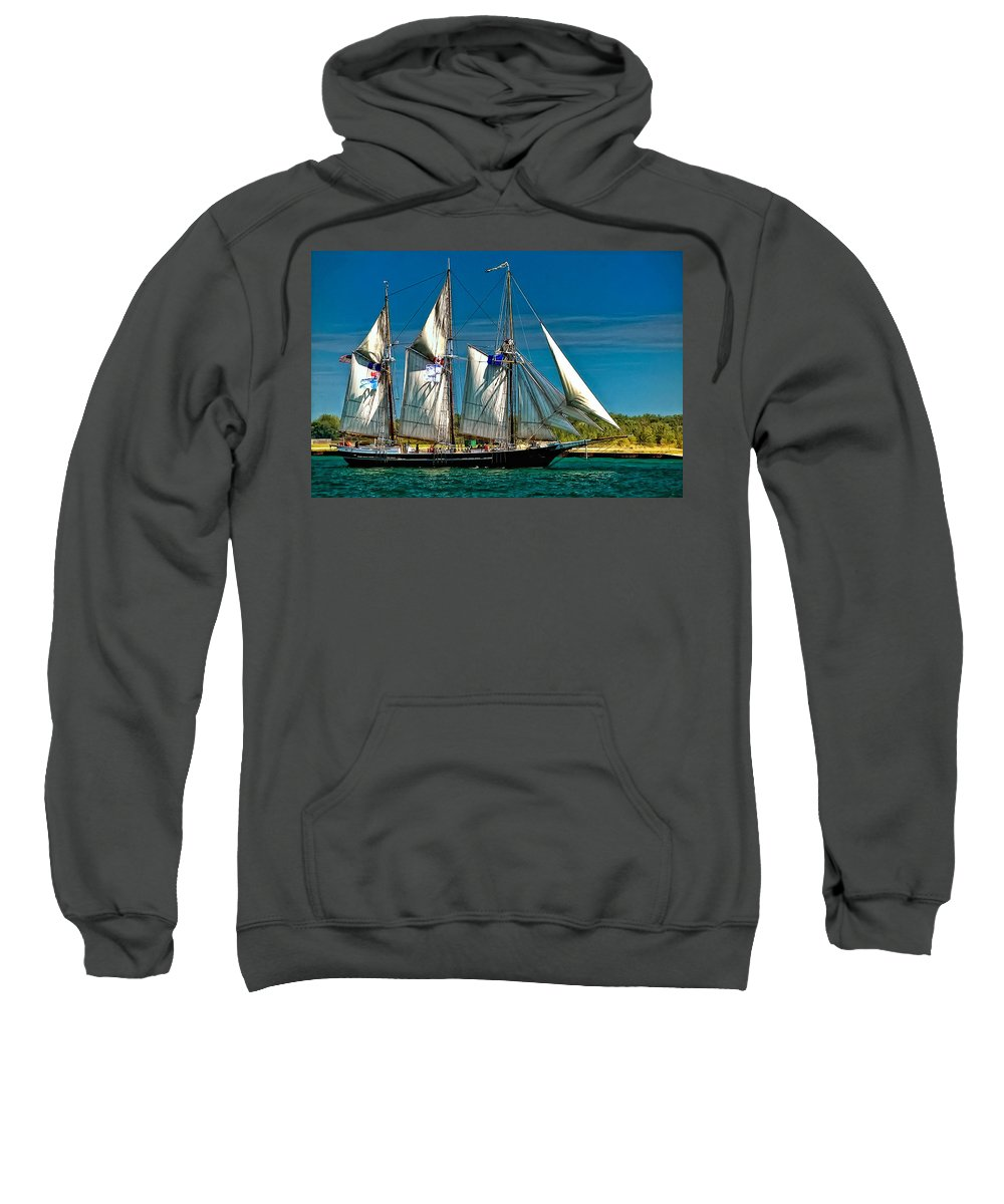 Tall Ship Sweatshirt featuring the photograph Tall Ship by Steve Harrington