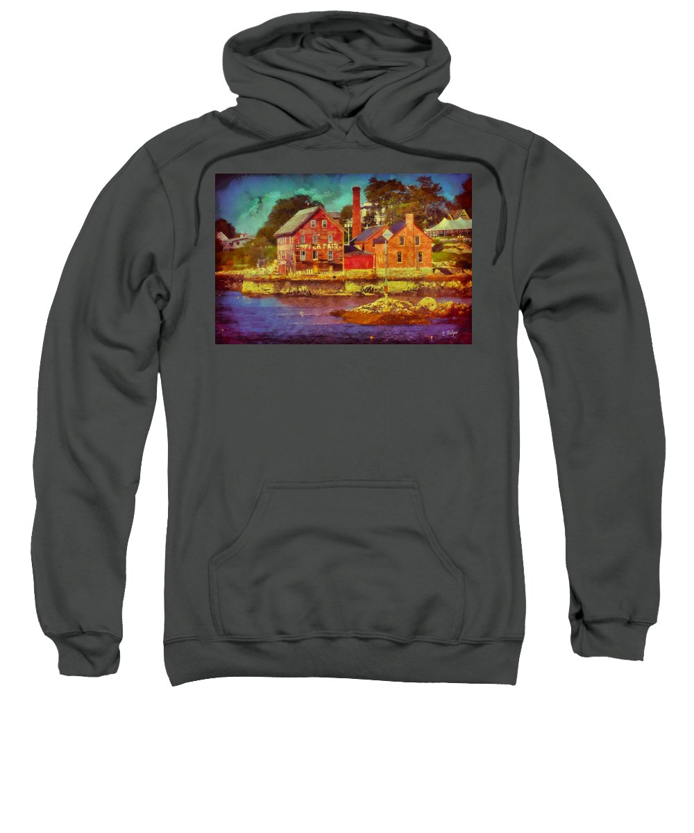 Cape Ann Sweatshirt featuring the photograph Tarr And Wonson Fading by Jeff Folger