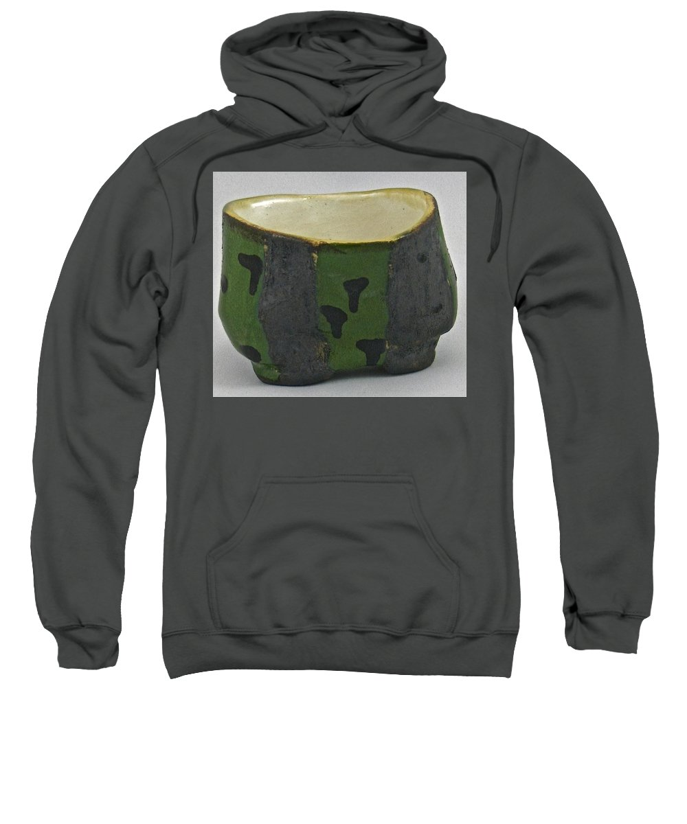 Tea Bowls Sweatshirt featuring the sculpture Tea Bowl #13 by Mario MJ Perron