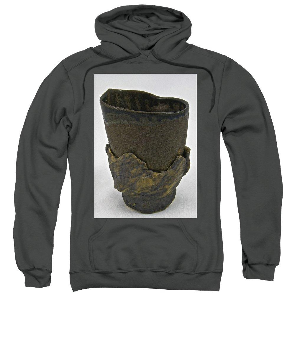 Tea Bowl Sweatshirt featuring the sculpture Tea Bowl #19 by Mario MJ Perron