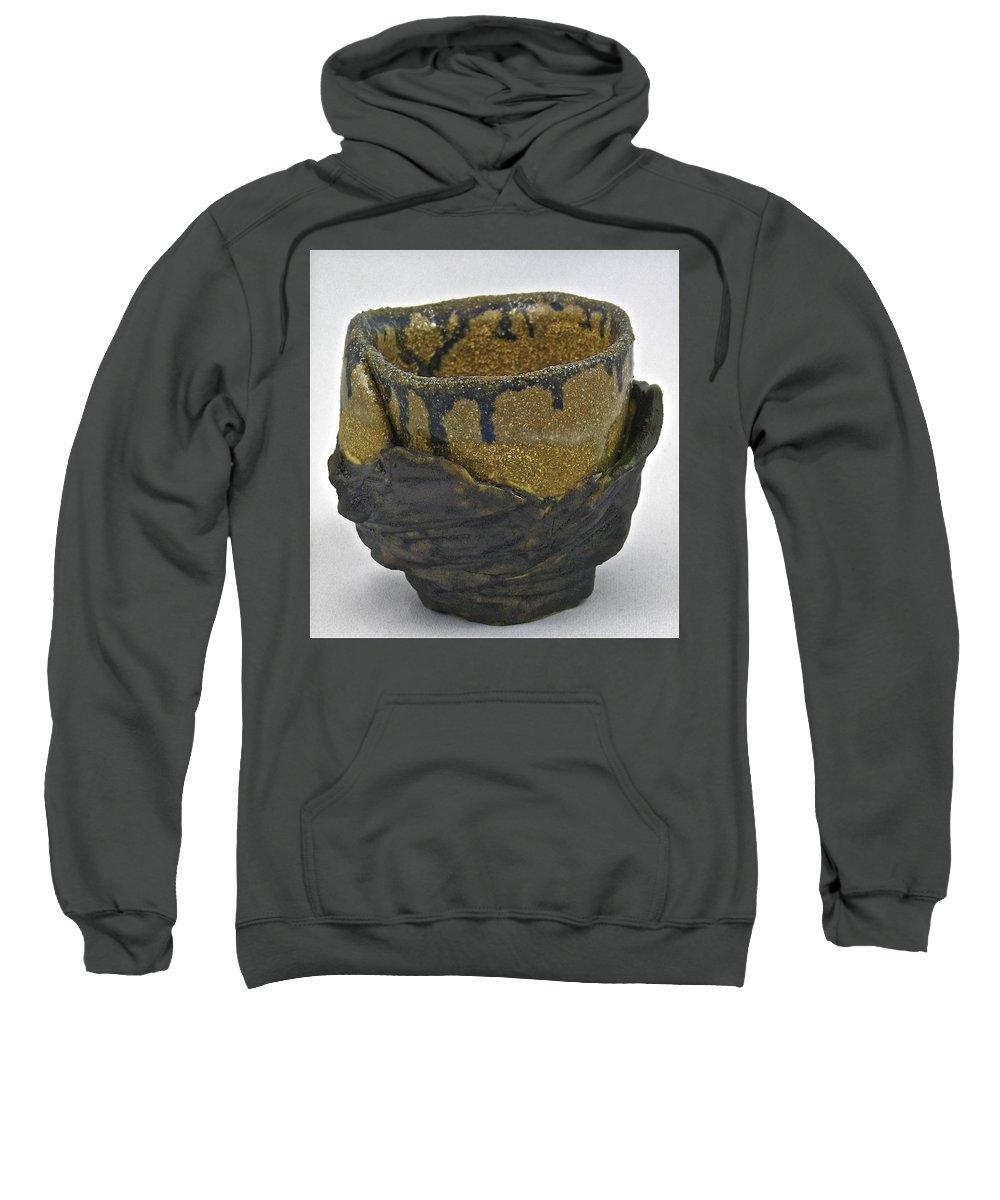 Tea Bowls Sweatshirt featuring the sculpture Tea Bowl #21 by Mario MJ Perron